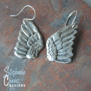 Angel Wing Earrings, Stephanie Chavez Designs