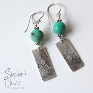 Fine Silver Earrings, Stephanie Chavez Designs