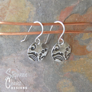 Stephanie Chavez Designs, Fine Silver Disk Earrings