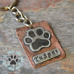 Furever Impressions, Pet Paw Print Keychain