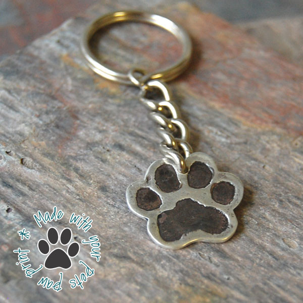 Paw print keychain stephanie chavez for Fingerprint jewelry by first impressions