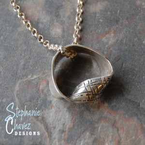 Fine Silver Mobius Strip Necklace, Stephanie Chavez Designs